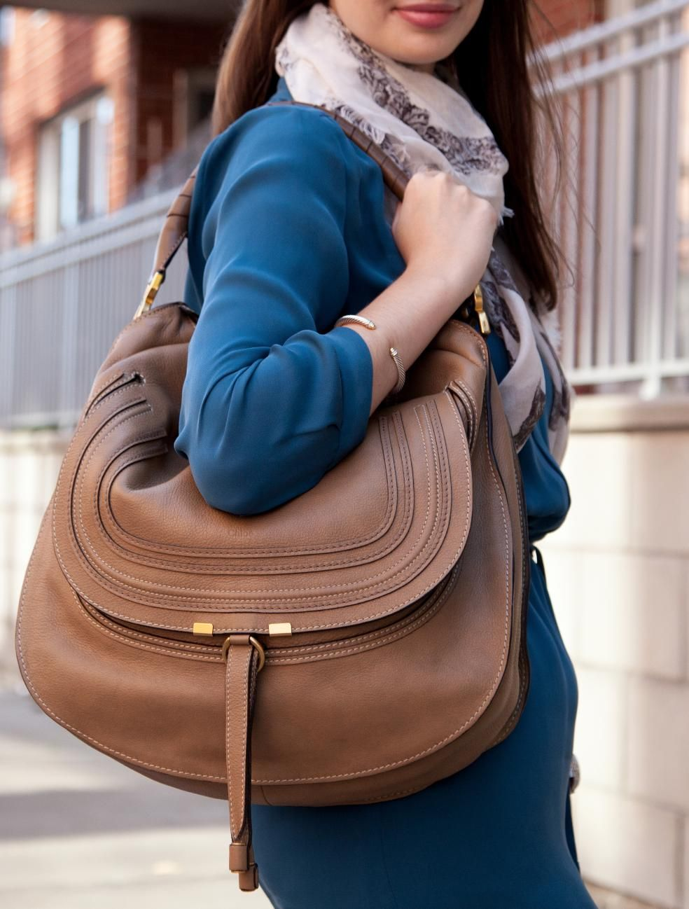 52dac97d5 Chloé Marcie hobo in chestnut brown. This variation lacks the vase-like  curve at top. Showing because while labeled as a hobo, this bag retains the  size and ...