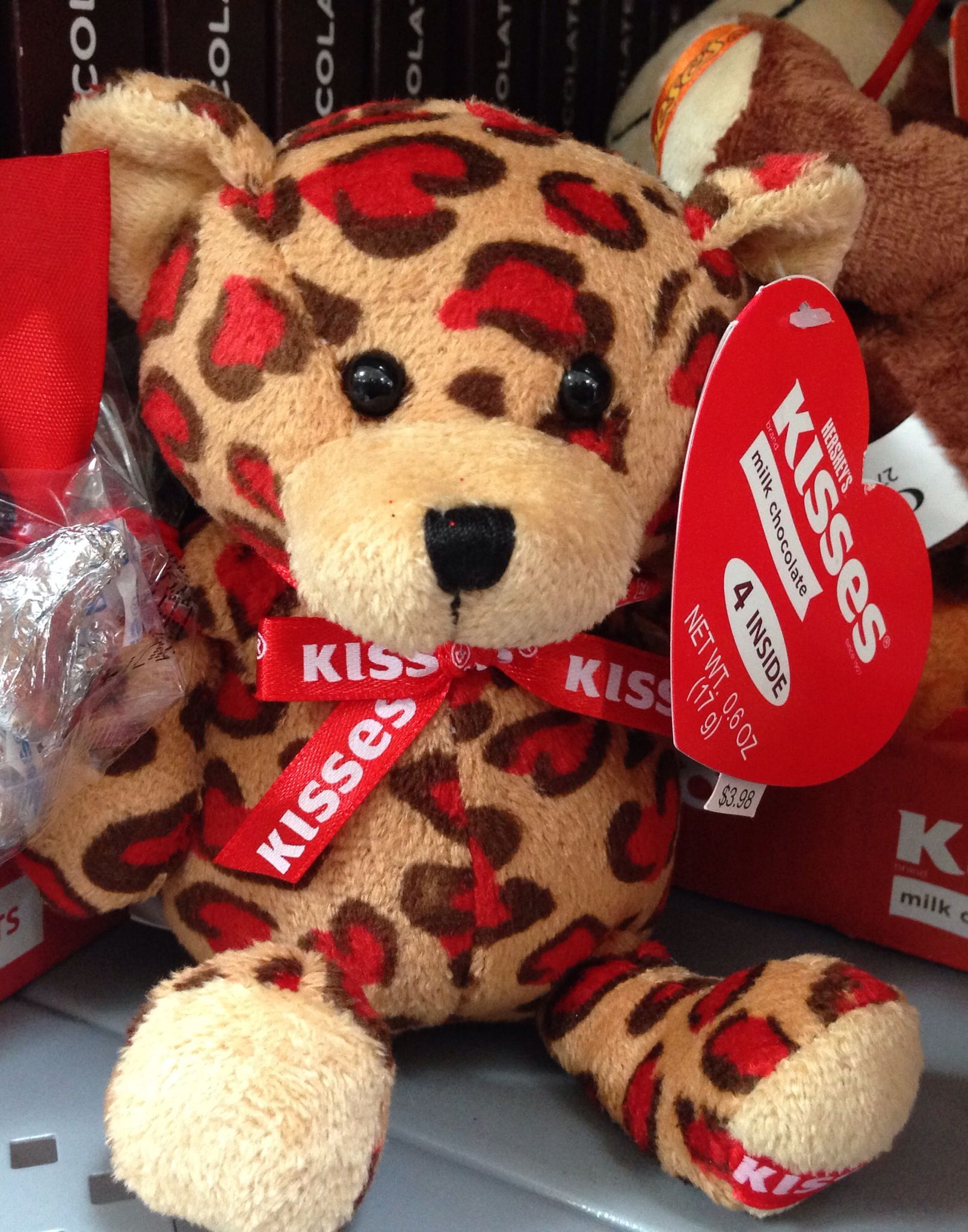 Stuffed Animal/Leopard Print/Walmart/Valentine/Hersheyu0027s Kisses
