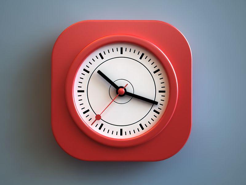 Just Another Clock Clock Icon Ios Icon App Icon Design