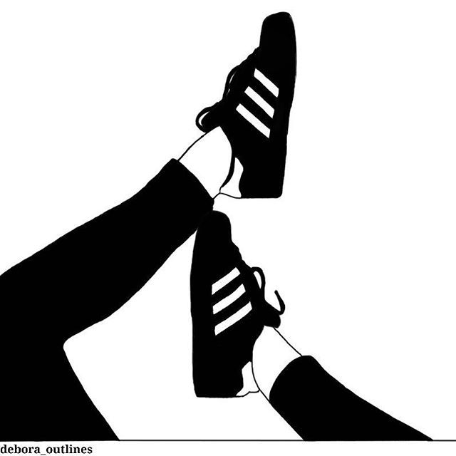 outlines black and white adidas sneakers new outline drawing