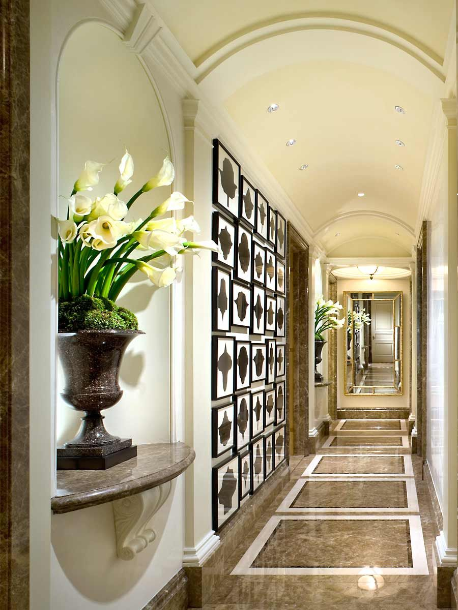 Gorgeous marble hallway - John B. Murray Architect ...