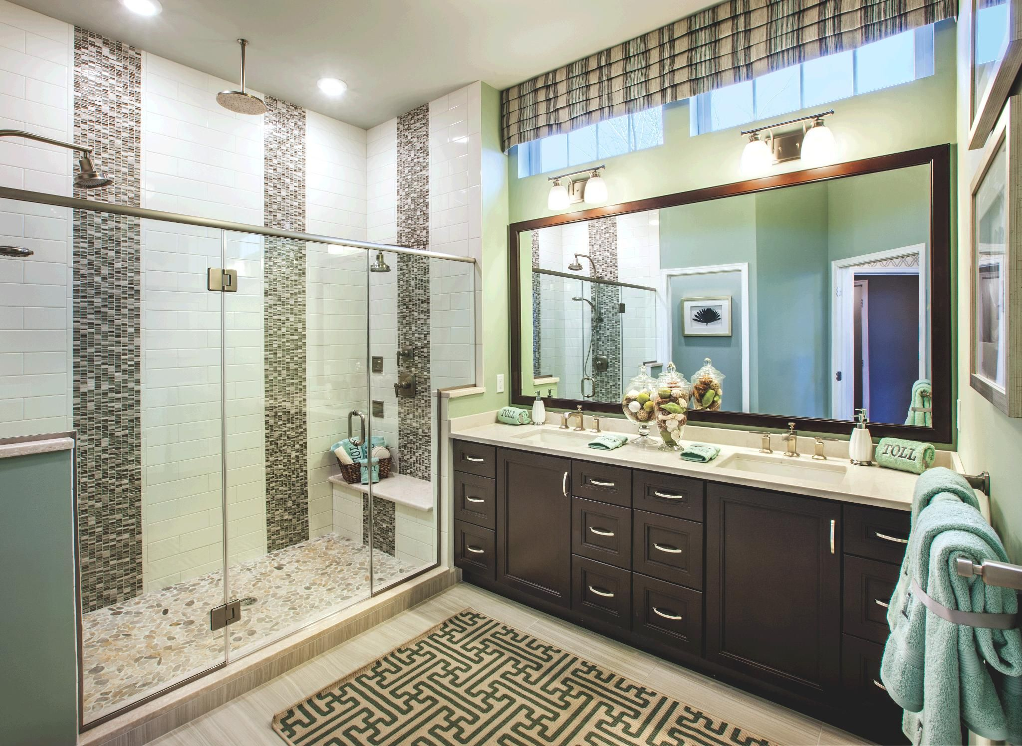 A Perfect Master Bathroom Dual Vanities And Dual Shower Heads
