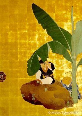 """Detail. Daijoji Temple. Maruyama Okyo fusuma. """"Kakushigi No Ma"""""""