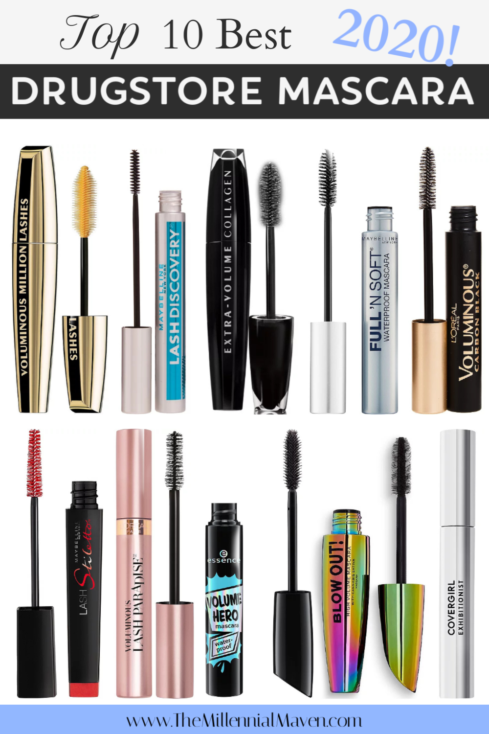 *UPDATED 2020* Top 10 Best Drugstore Mascaras Right Now! | Drugstore Makeup