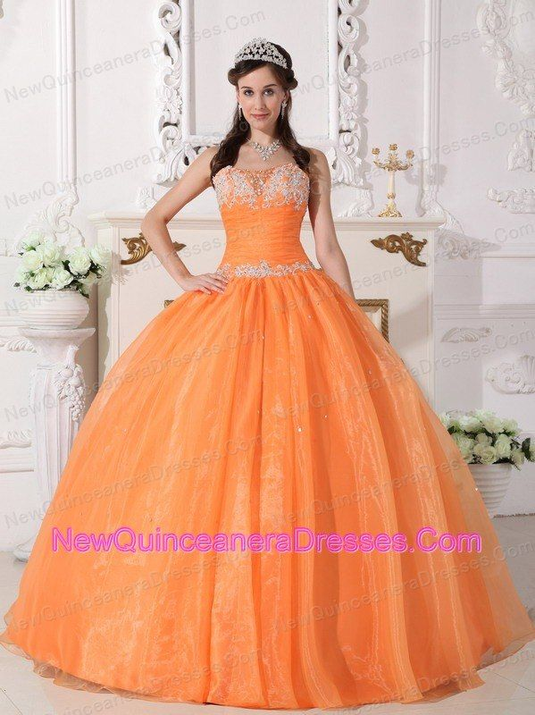 orange quinceanera dress | Quinceanera Dresses | Pinterest | Sweet ...