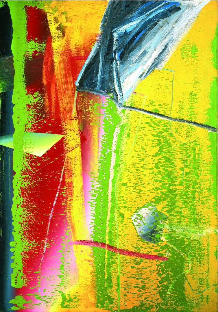 Gerhard Richter Abstraktes Bild | Gerhard Richter Painting Abstraktes Bild Gerhard richter's oil ...