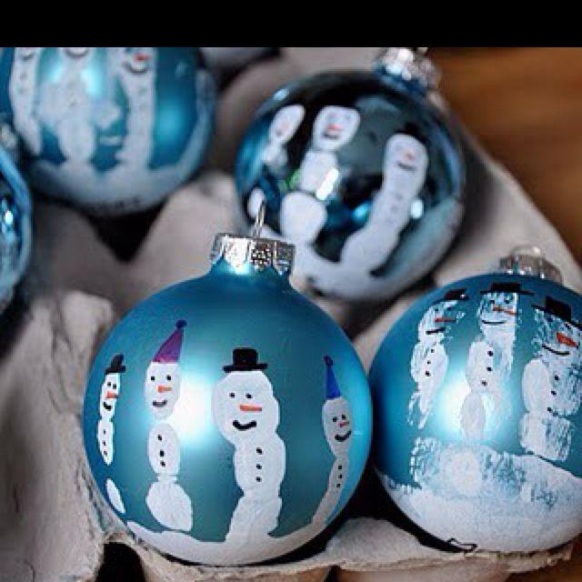 Christmas ornament · Handprint ornaments. - Handprint Ornaments. Cute! School Crafts Pinterest Preschool