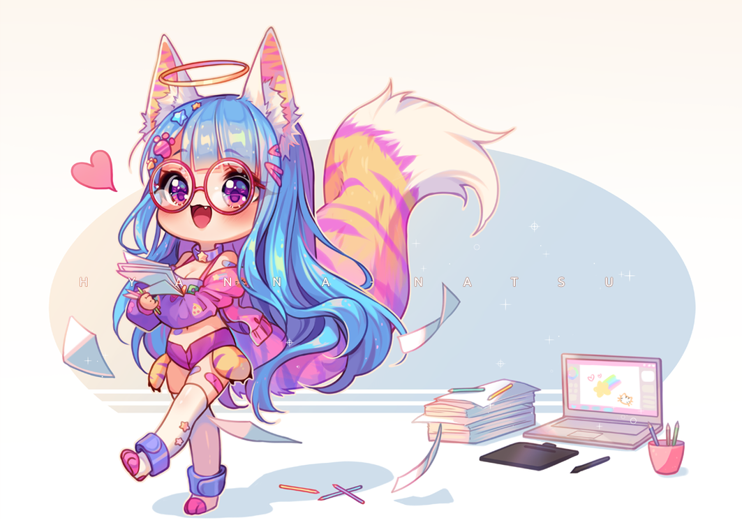 Video Commission Rawr Work By Hyanna Natsu On Deviantart In 2020 Cute Anime Chibi Anime Chibi Kawaii Art