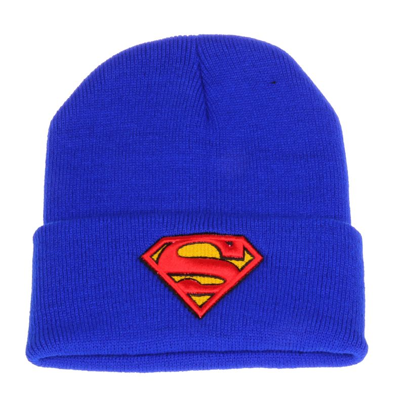 ... Winter Beanie Hat Novelty SUPERMAN 3D Embroidery Knitted Caps For Men  And Women Wool Hat Gorro Tocas Skullies Acrylic Beanies for just  2.69 f9436e11111