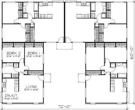 Fourplex House Plans House Plans And Home Floor Plans Family House Plans House Plans House Floor Plans
