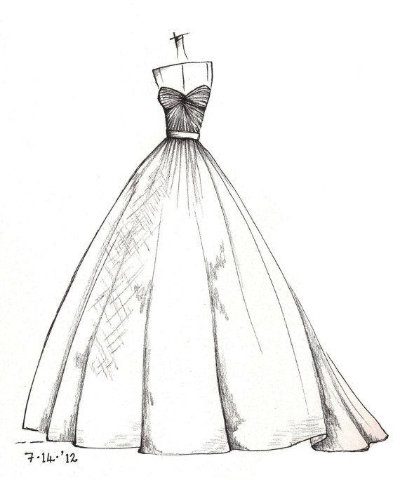 Weddinng Dress Illustration By Lisa M: Inspiring Dress Sketches For ...