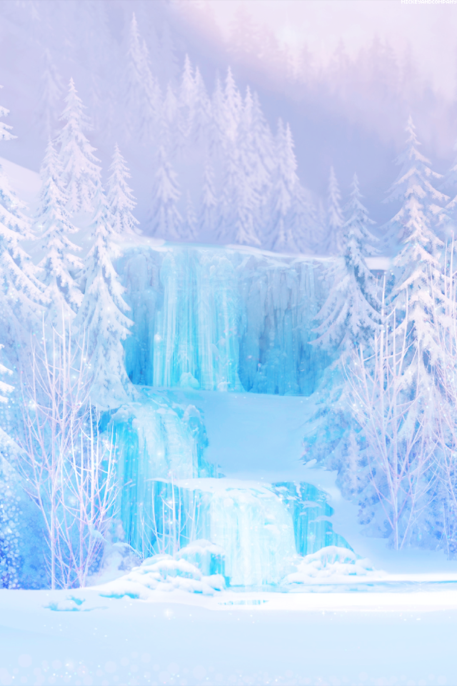 Mickey and Company Frozen background, Winter background