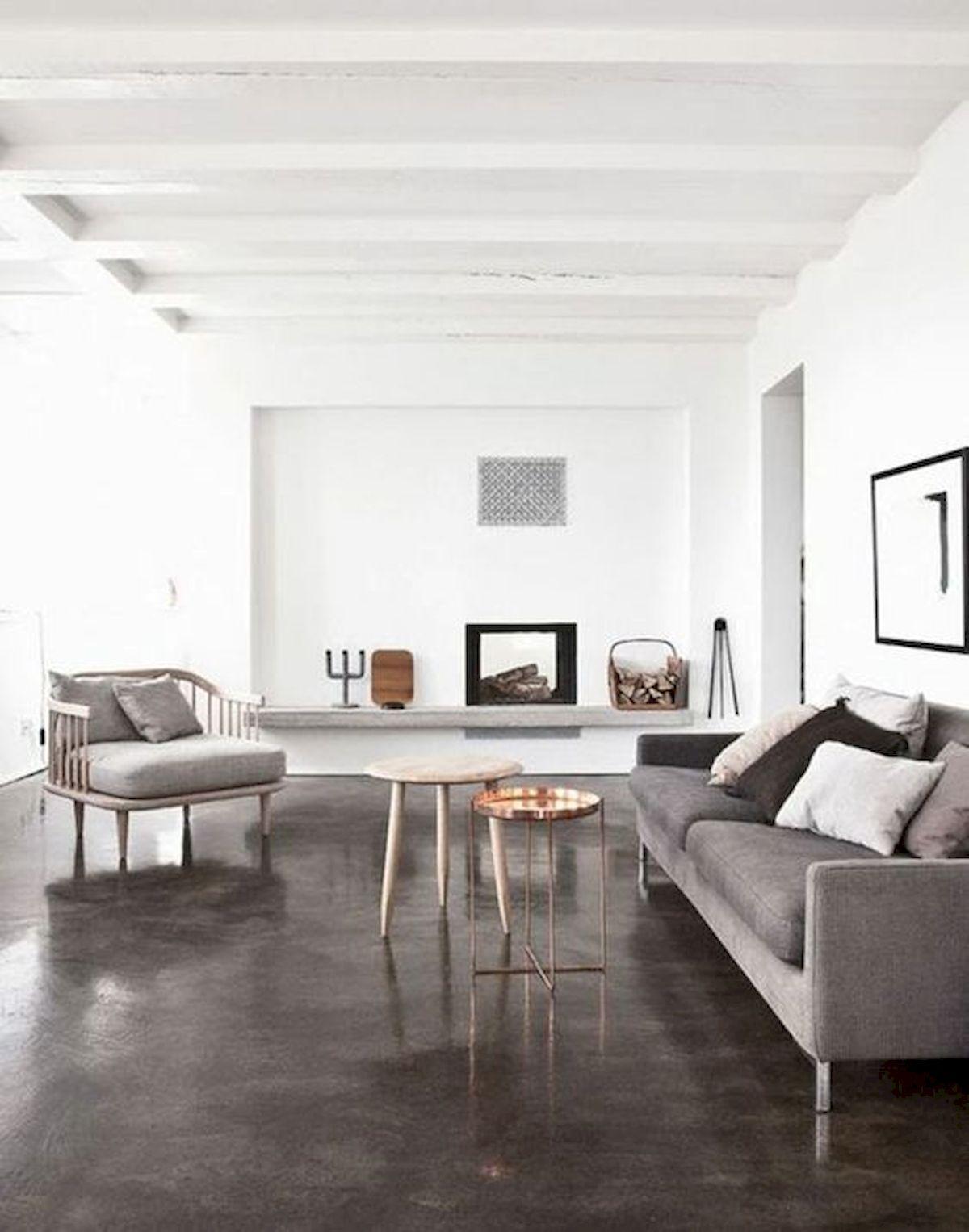 70 Smooth Concrete Floor Ideas for Interior Home