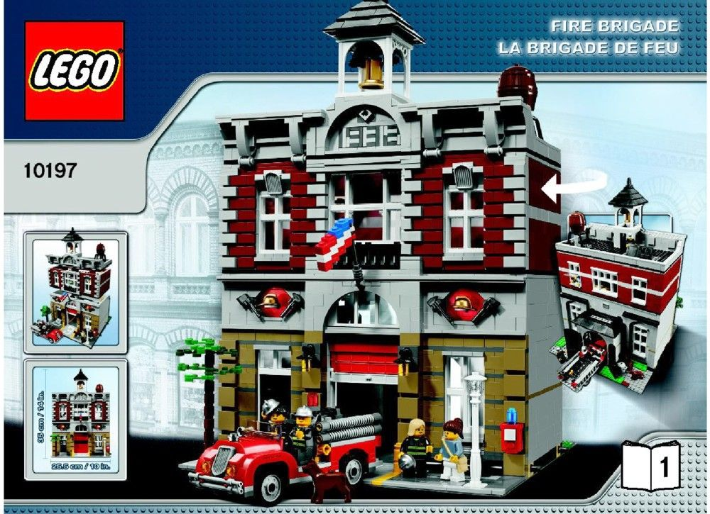 Town Fire Brigade Lego 10197 Instructions Lego Instructions