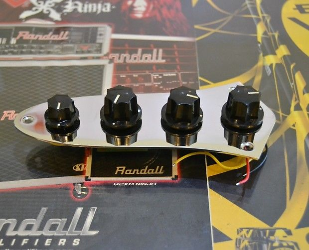 for sale : prewired bass assembly, control plate w/active bass boost circuit description  :preamp &