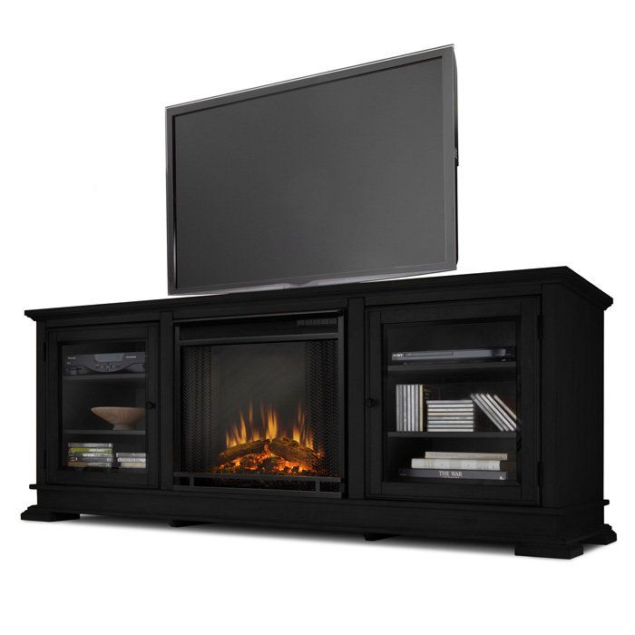 Electric Fireplace tv console with electric fireplace : tv stand with electric fireplace | Real Flame Hudson Electric ...