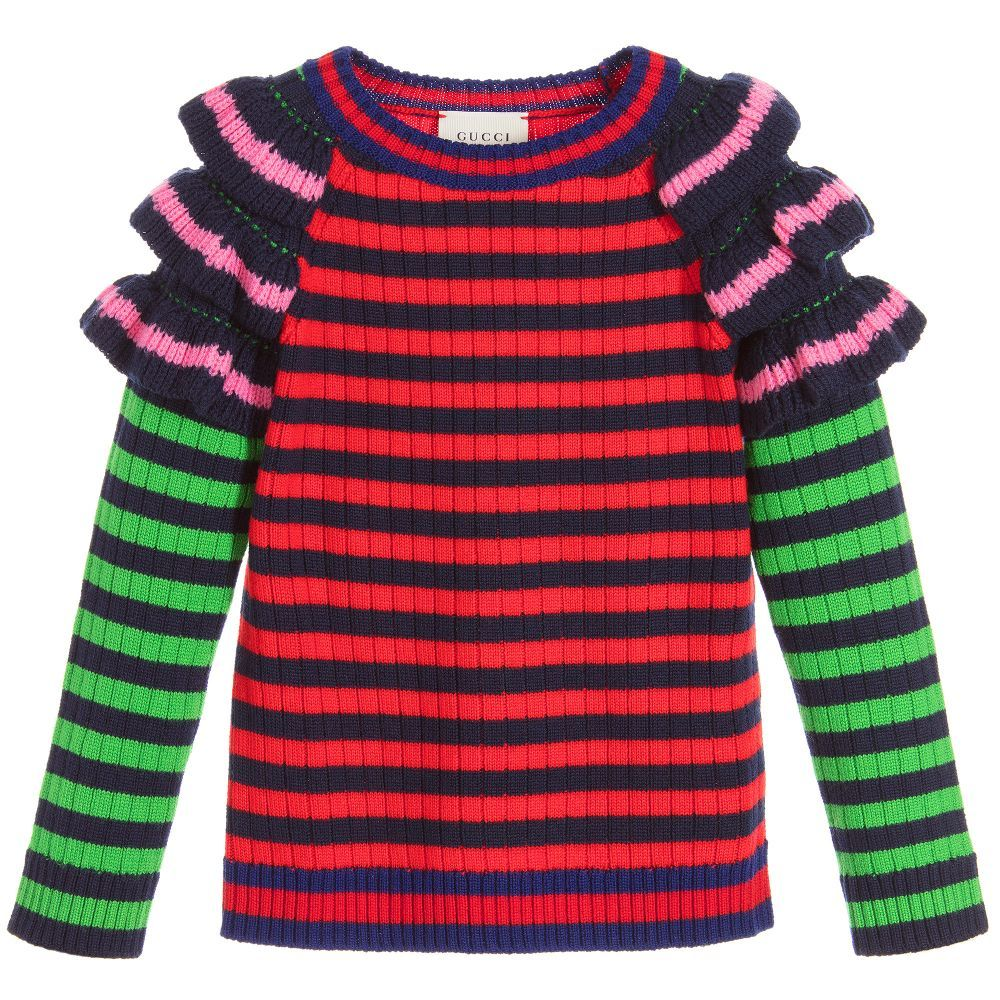 Girls Striped Wool Sweater | Wool sweaters, Kids online and Girls