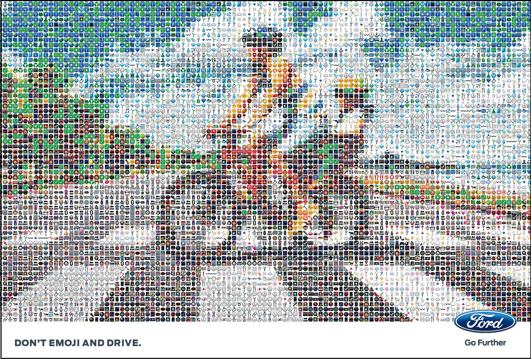 Ford Italy Don T Emoji And Drive Ads Creative Poster Prints