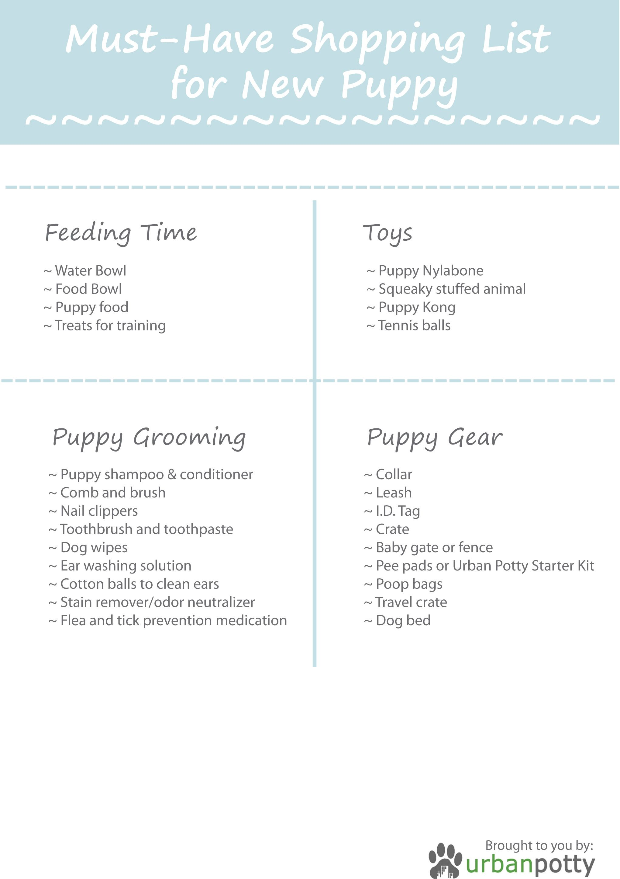 New Puppy Checklist Printable Puppy Download A Printable Pdf Of