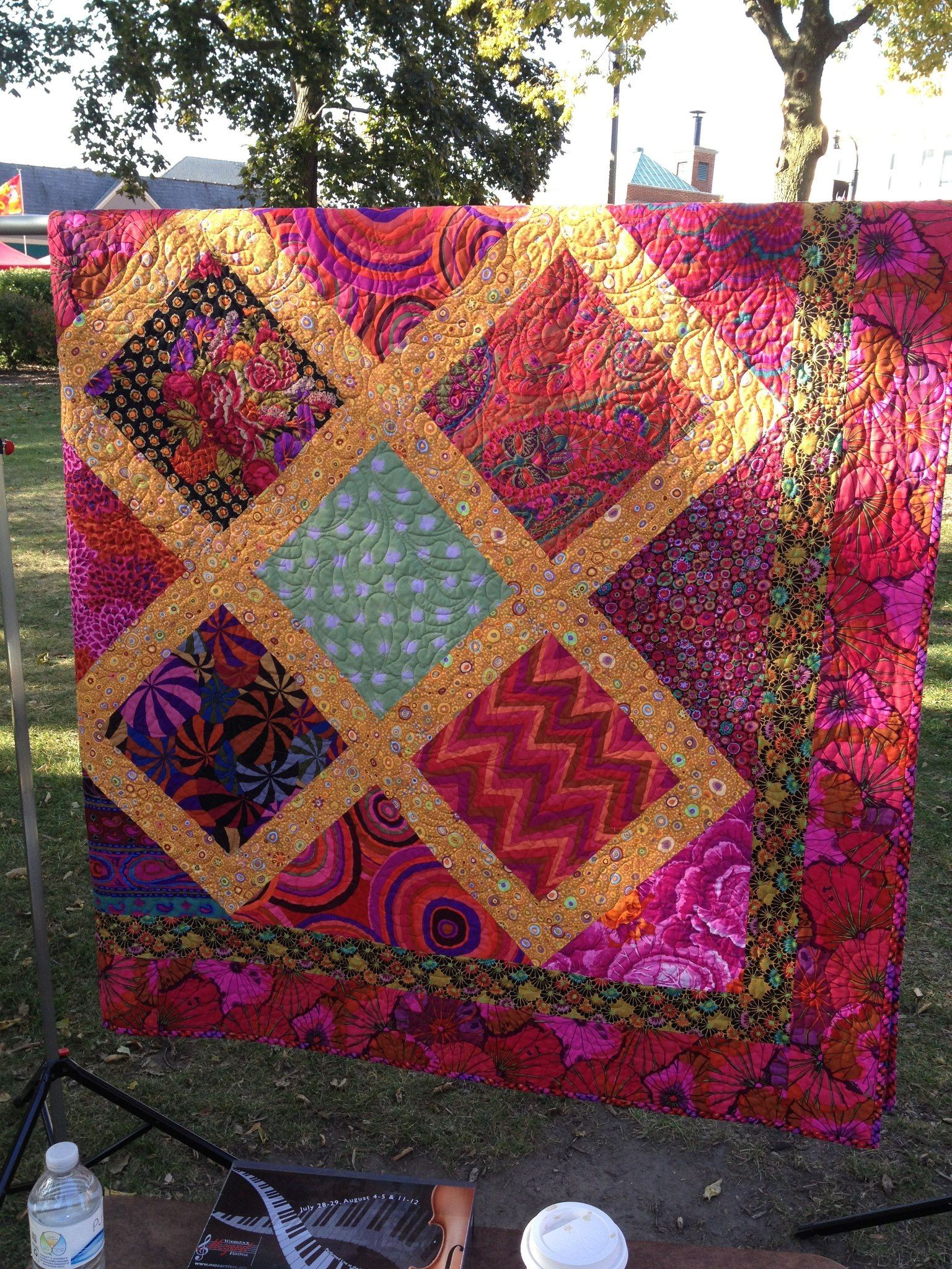 Kaffe Fassett Quilt Inspiration 2012 Opportunity Quilt Woodstock Mozart Festival By The Sinissippi Quilters