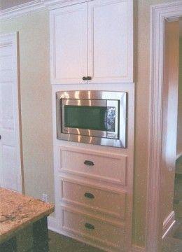 Seven Different Microwave Design Ideas Built In Microwave Cabinet Microwave In Kitchen Kitchen Microwave Cabinet
