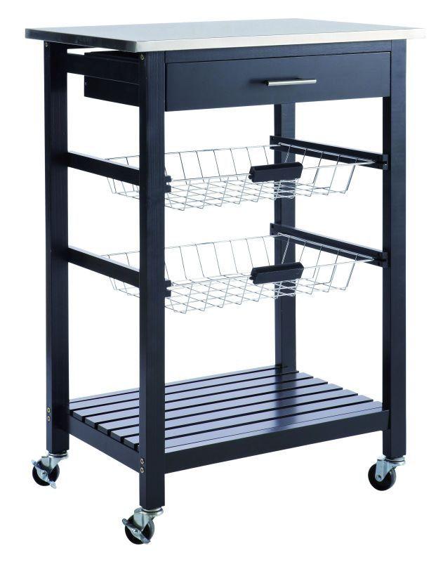 Küchenwagen Cookies Schwarz 835 Hoch Möbel