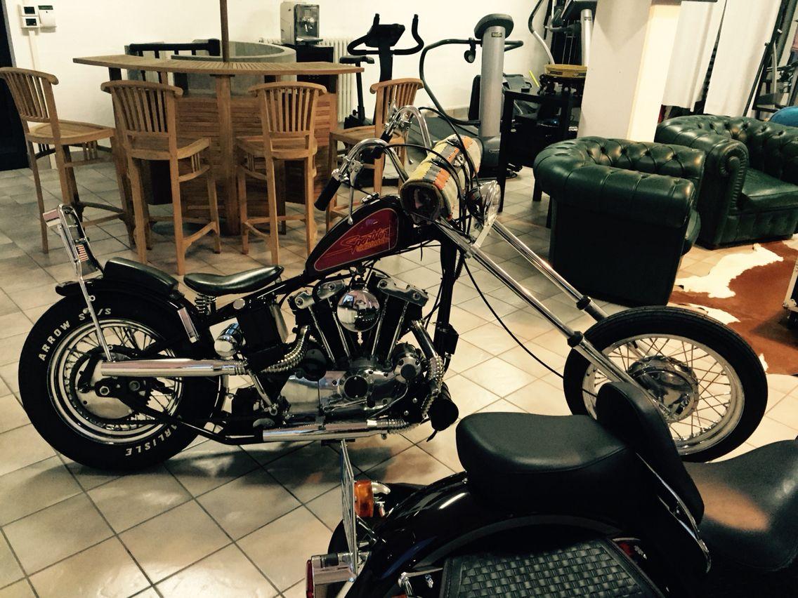 '72 Harley Chopper Ironhead XLCH 1000, Old School Frisco Style
