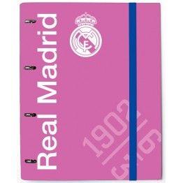 Carpeta Real Madrid Pink de cuatro anillas Archivador rosa del club de  Chamartín Tamaño folio con 3ff152ec8adba