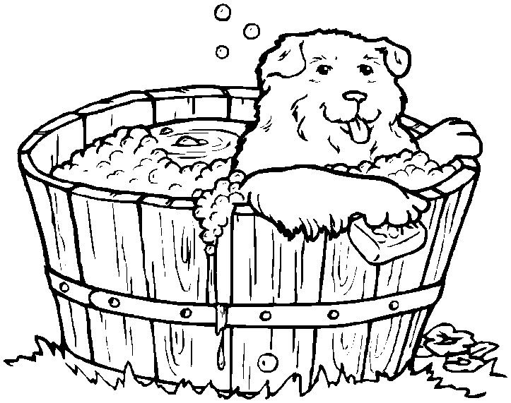 printable easter coloring page dog in the bath thingkid diggity - new easter coloring pages to do online