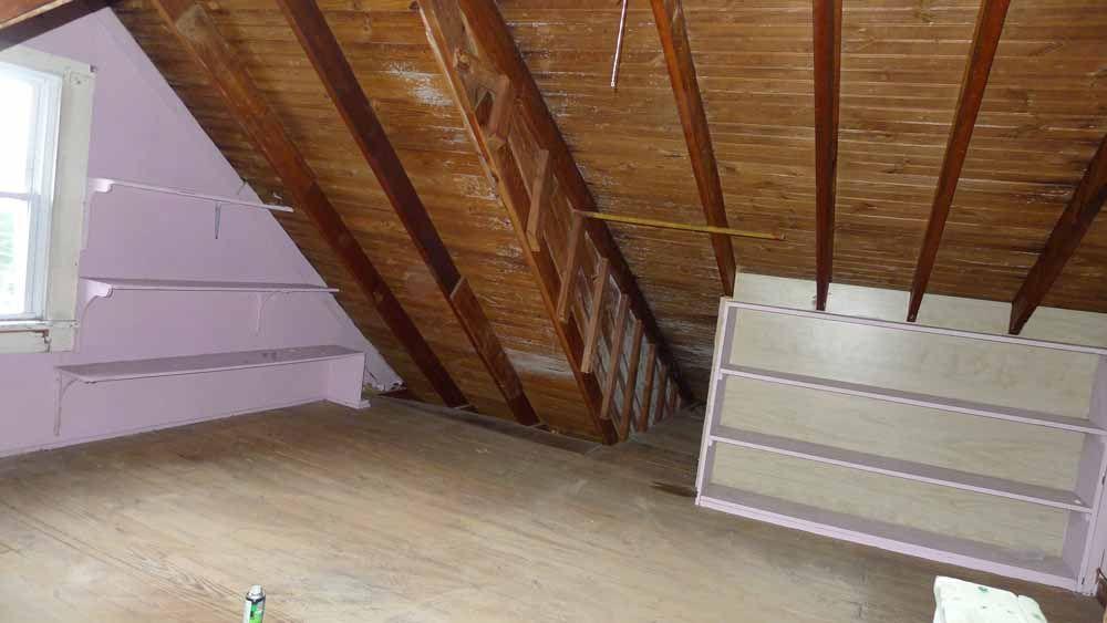 Vapor Barrier For Finishing Old Attic Attic Renovation Attic House Attic Design