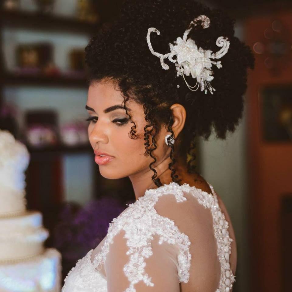 Noiva Negra Cabelo Afro Cabelo Cacheado Penteados