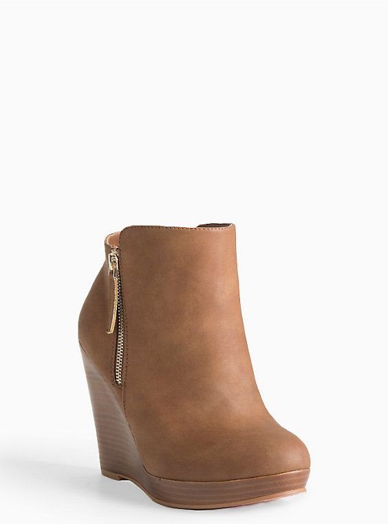 7e47e9947f204 Side Zip Wedge Booties (Wide Width) | Shoes & Bags Luvs | Shoes ...
