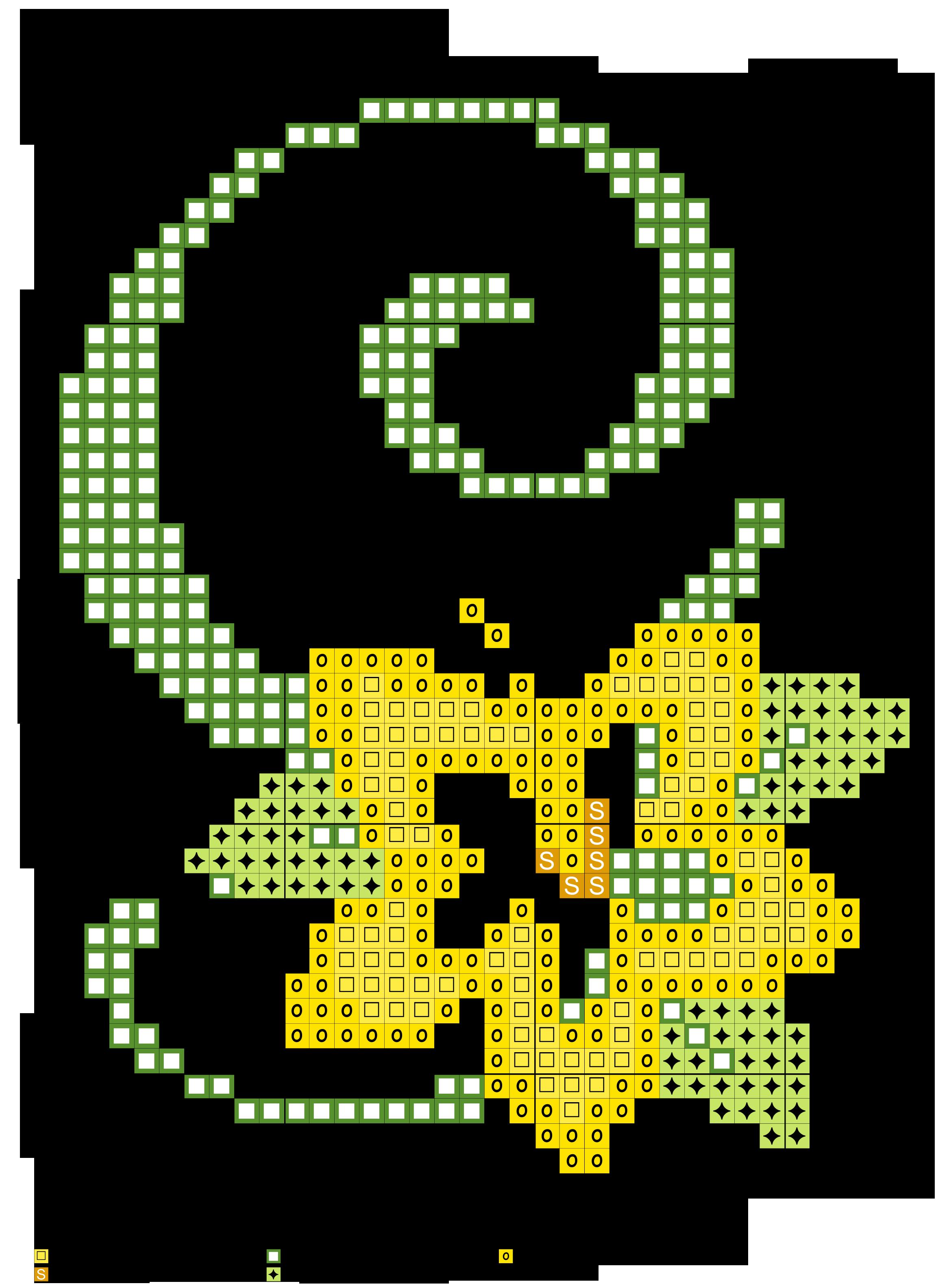alfabeto verde con fiore stilizzato G