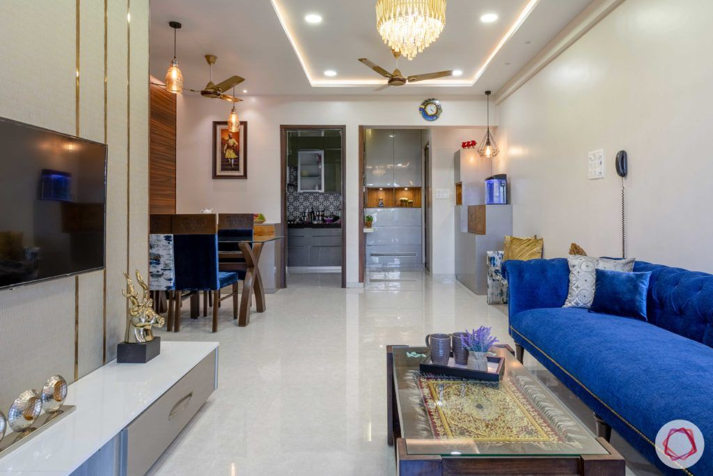 Prepare To Swoon Over This 2bhk Interior Design Apartment Small Green Sofa Living Room Flat Interior