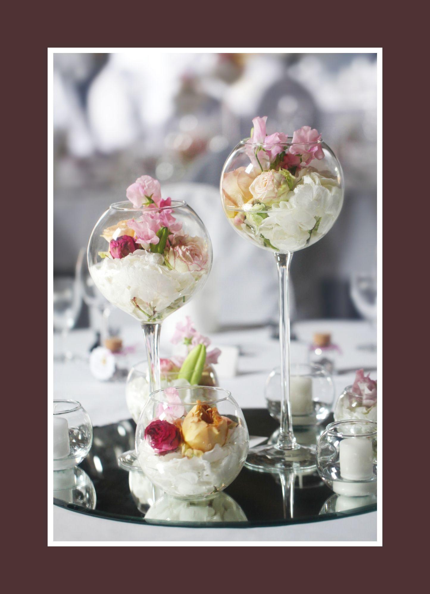 Perfekte Blumen Blumendeko und Blumenschmuck im Glas Hochzeit Taufe Kommunion Konfirmation