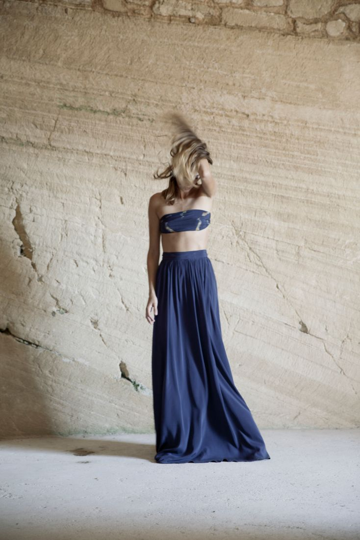 Fabiola Blue Long Skirt    Magnolia Antic