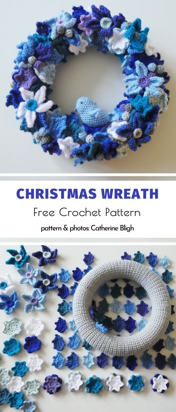 Photo of Crocheted winter wreaths