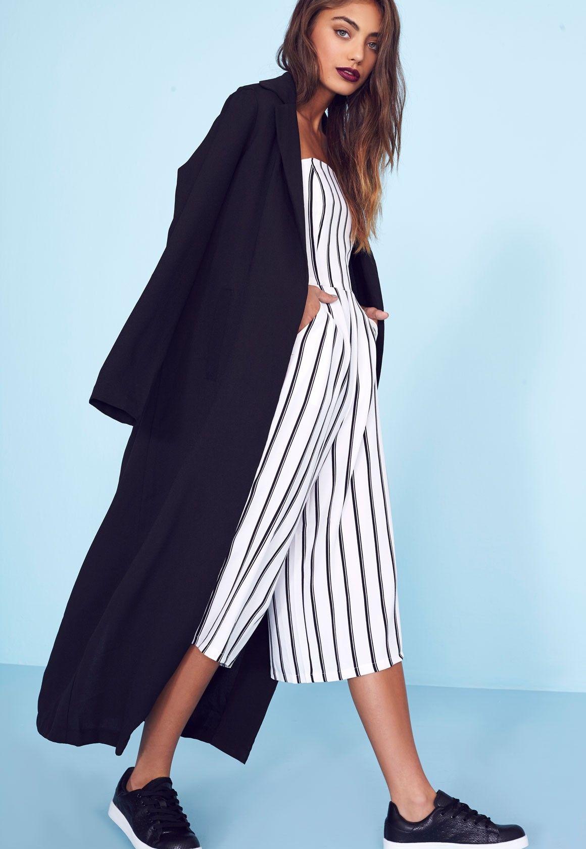 d49a829d9c Missguided - Long Sleeve Maxi Duster Coat Black | Want | Duster coat ...