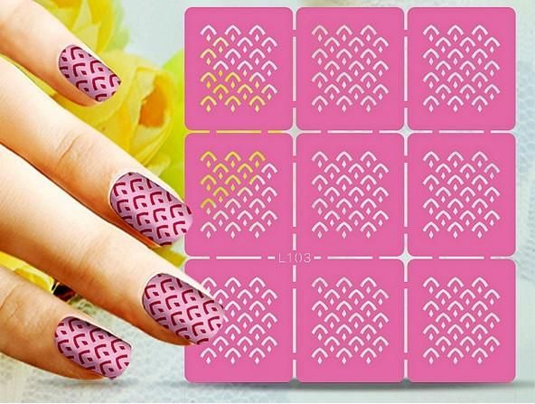 Reusable Nail Art Template Nail Stencil Guild Stamping Art Cut Out
