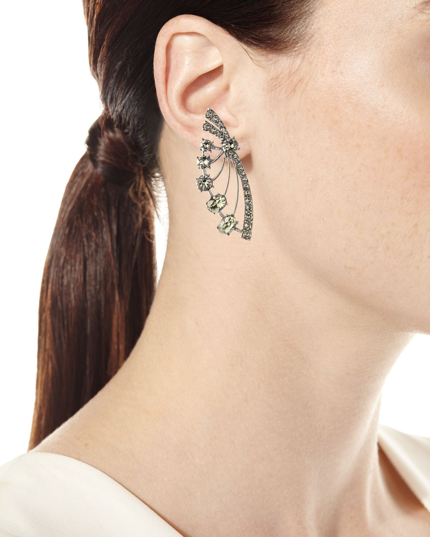88f0d7817 Oscar de la Renta Crystal Fan Post Earrings | Products | Diamond ...