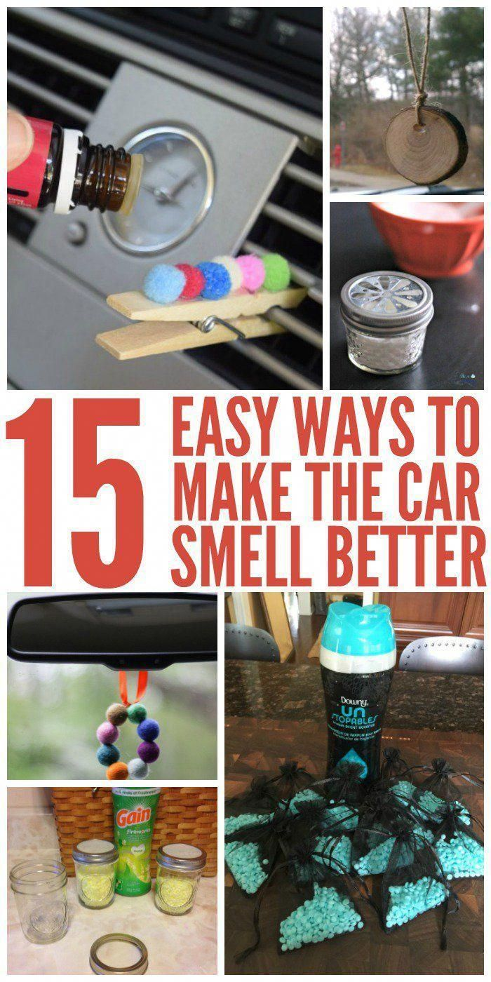 15 Easy Ways to Make Your Car Smell Better FAST - One Crazy House #cleaningcars