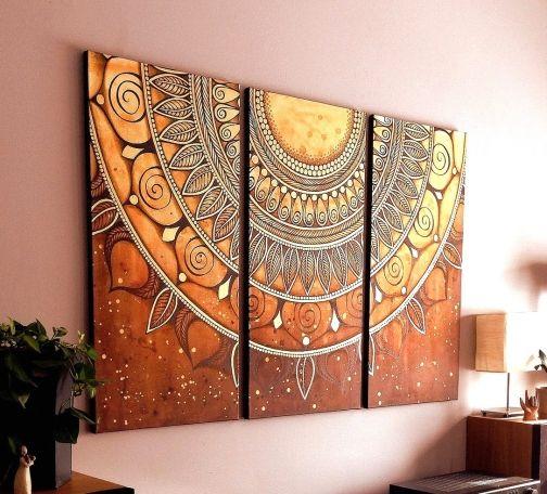 Mandala Magic Mandalas In Diy Art Home Decor And More Boho Wall Decor Mandala Painting Mandala