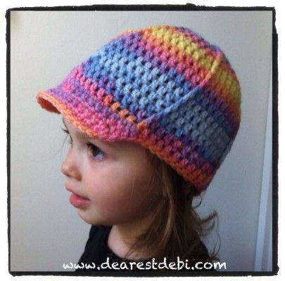 Crochet Toddler Ball Cap Dearest Debi Patterns Crochet