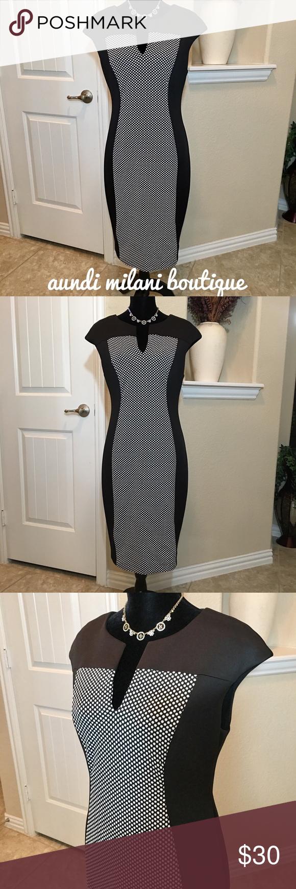 Black And White Sheath Dress White Sheath Dress Clothes Design Black Sheath Dress [ 1740 x 580 Pixel ]