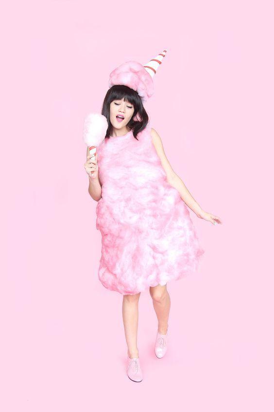 Diy Cotton Candy Halloween Costume Holiday Kostum Diy Kostum