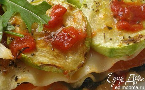 Лазанья с кабачками, шпинатом и сладким перцем   Рецепт ...