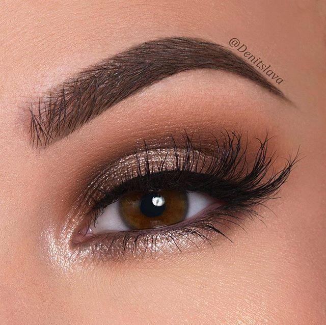Gold brown eyeshadow #browneyeshadow