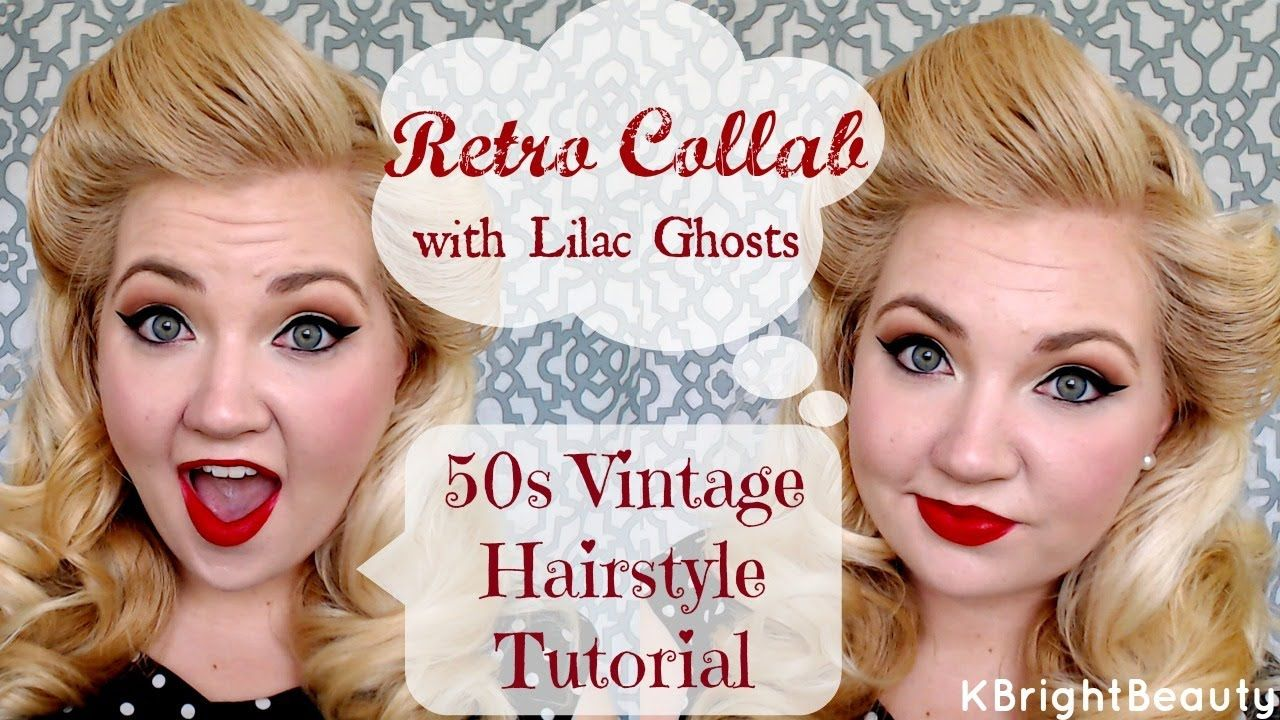 50s vintage hair tutorial | retro collab w/ lilac ghosts