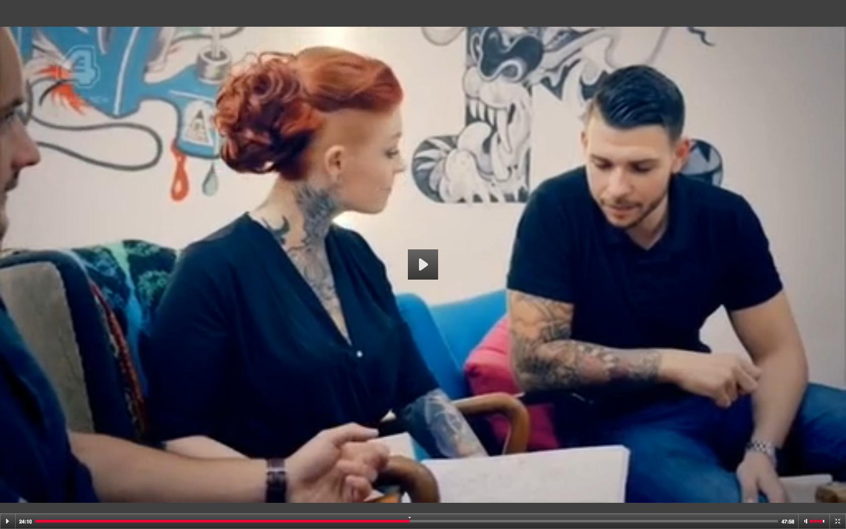 Hair Goals Lou Hopper In Episode 9 Of Tattoo Fixers Tattoo