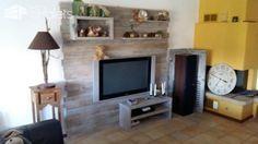 Pallet Entertainment Center Wall / Meuble Tv En Palette Pallet TV Stand & Rack